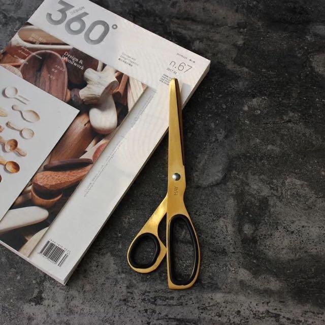 北欧品牌HAY  黄铜色剪刀  金色黑色剪刀