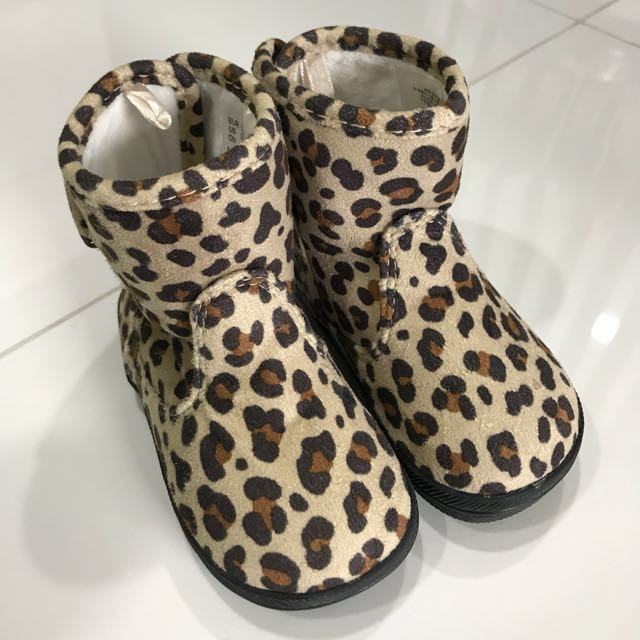 H\u0026M baby boots leopard print baby shoes