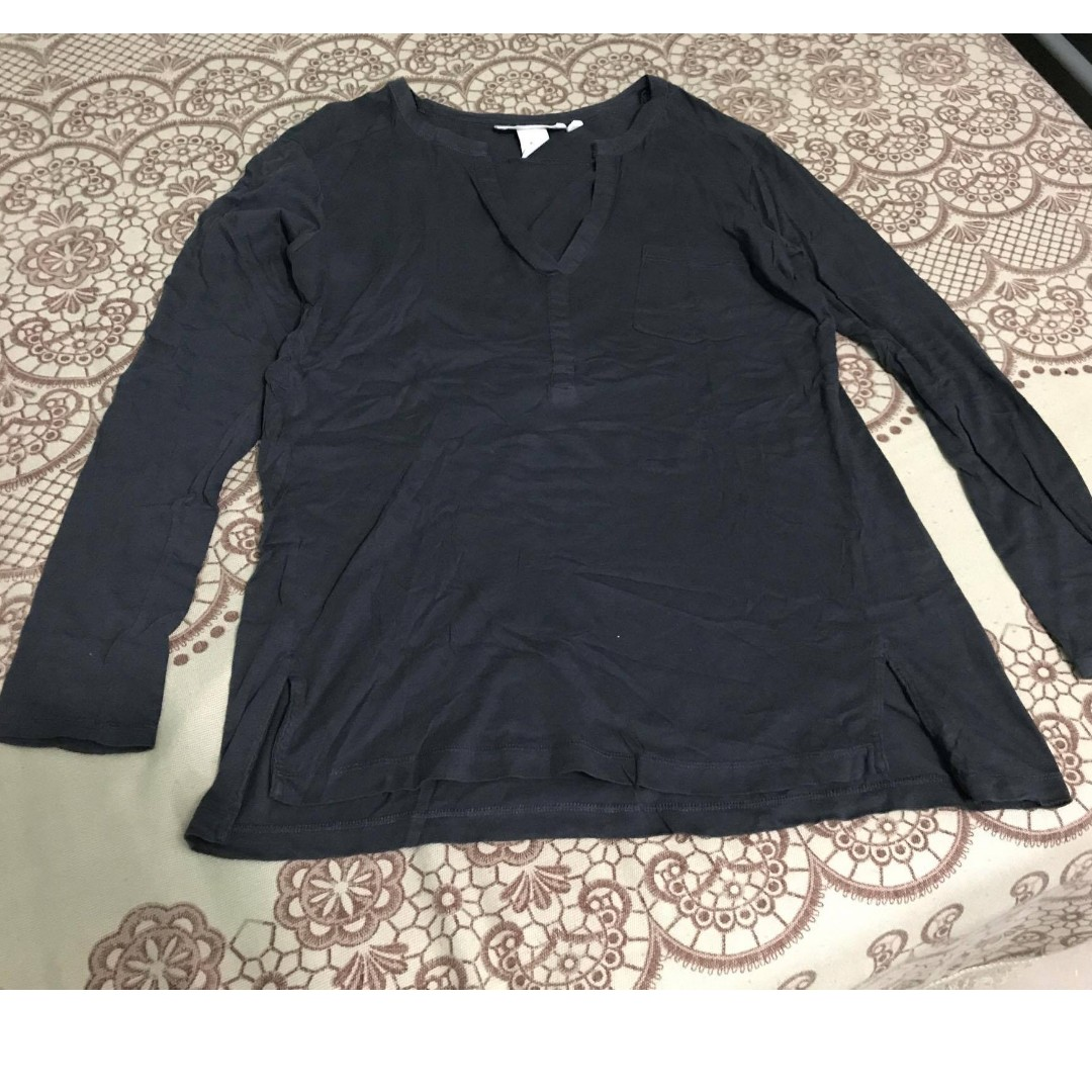 H&M Gray Tunic-Style Longsleeved Shirt