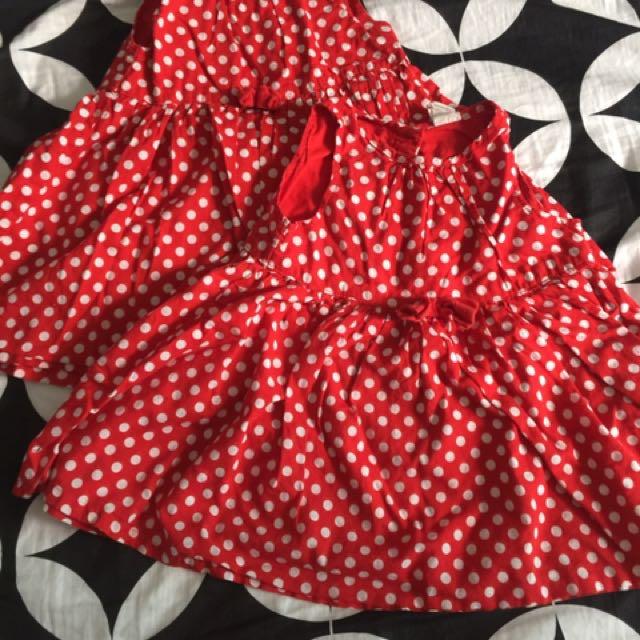 h&m polka dot dresses