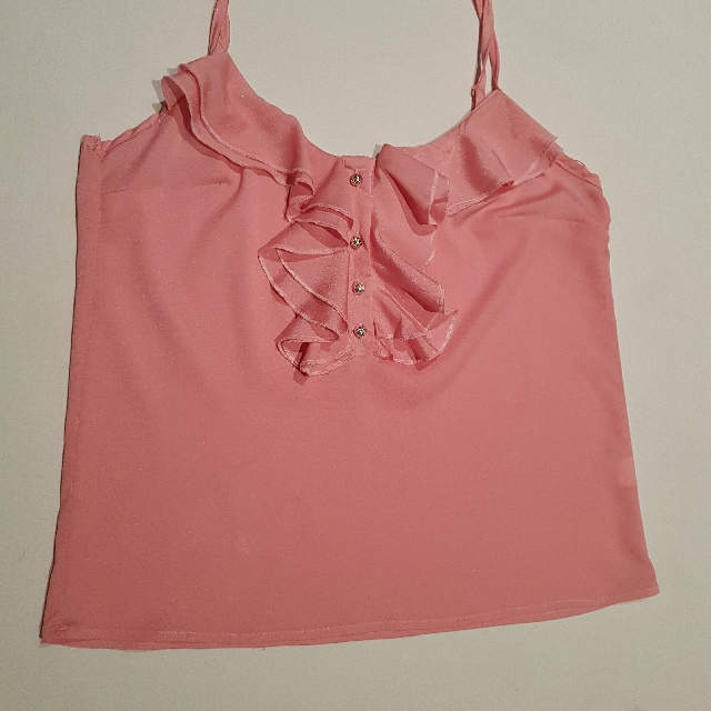 Ice Brand Size XS Pink Frills Singlet Top