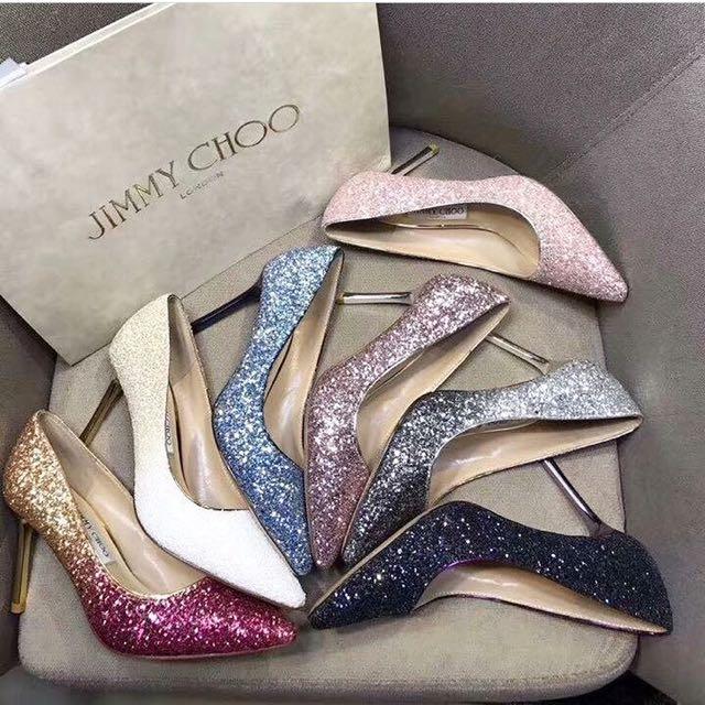 Jimmy Choo Glitter Romy 85 Pumps