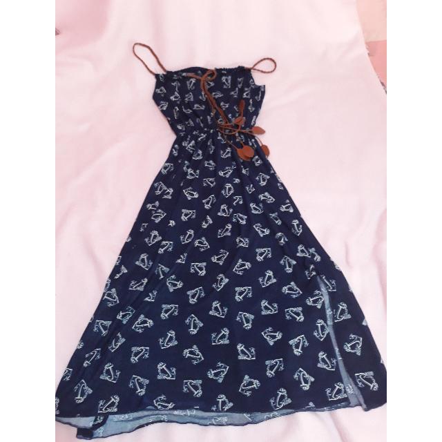 Knee Length Long Dress