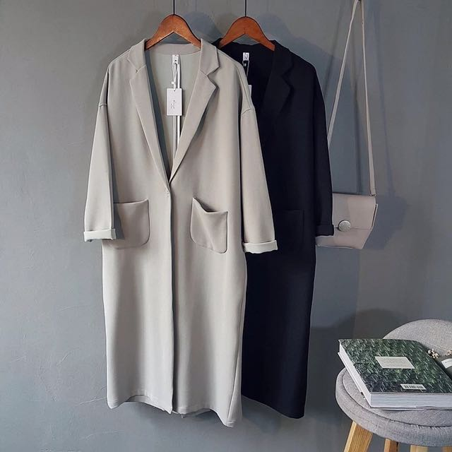 Korean Style Long Thin Coat