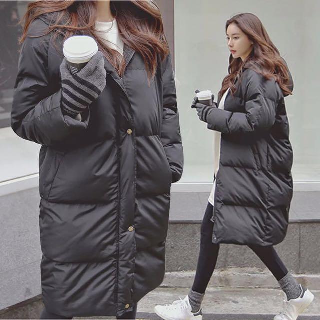 Korean Style Puffer Long Jacket