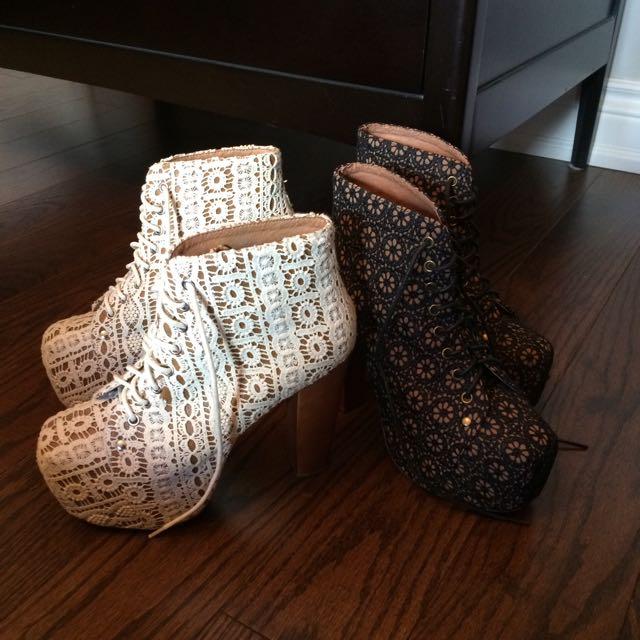 Lace Jeffrey Campbell Boots
