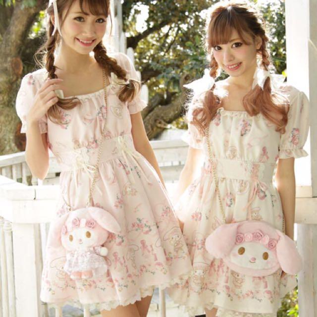 Liz lisa x melody 洋裝(保證正品,日本帶回)