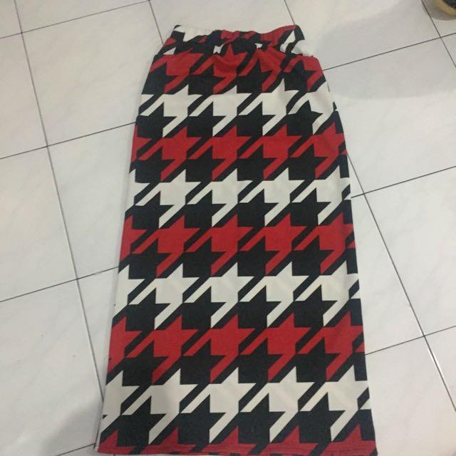 Long Skirt Pattern 3 Colour