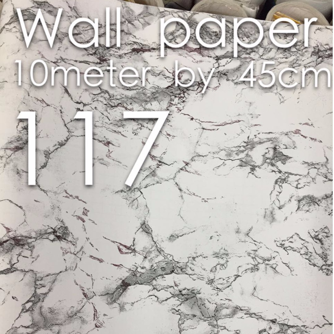 Marble 10mx45cm PVC Wallpaper Sticker Home Furniture On Carousell
