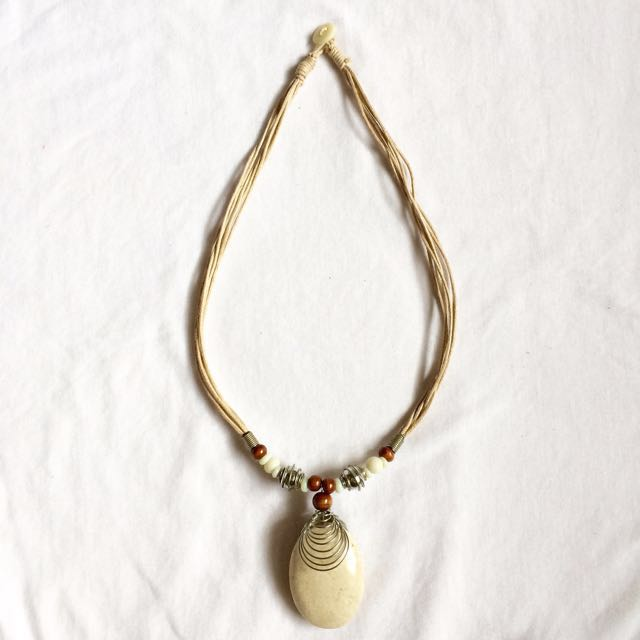 Marble Pendant Necklace from Bali