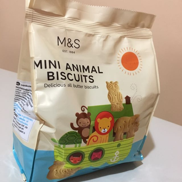 Best Myprotein Flavour >> M&S Mini Animal Biscuits, Food & Drinks, Packaged Snacks on Carousell