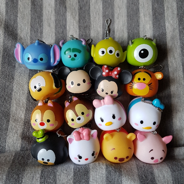 Squishy Disney Toys : [16 Designs!] Authentic Tsum Tsum Disney Squishy Toys Cake Toppers, Toys & Games, Bricks ...