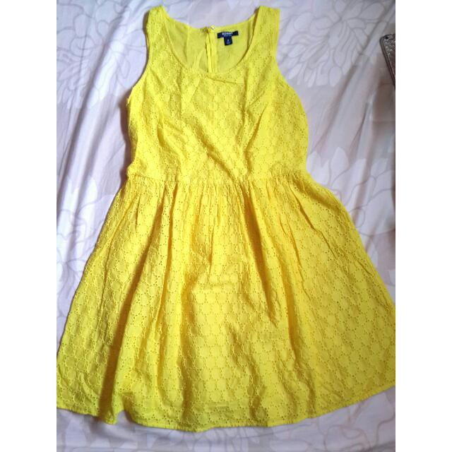 Old Navy Yellow Dress (Plus Size)