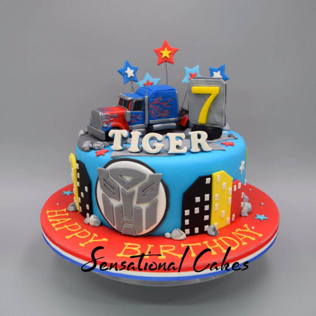 optimus prime mover truck theme 3d cake singapore Sensational