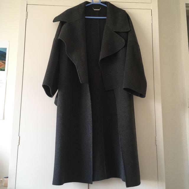 Oversized Grey Wool Coat