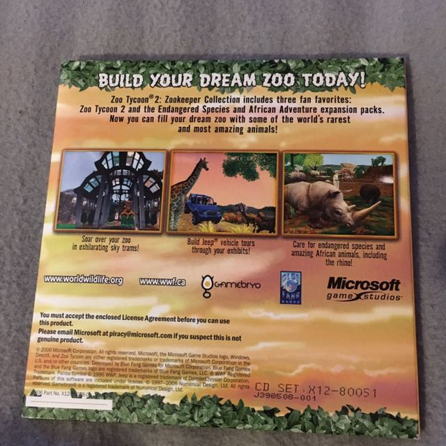 PC Zoo Tycoon 2 Expansion Pack, Video Gaming, Gaming
