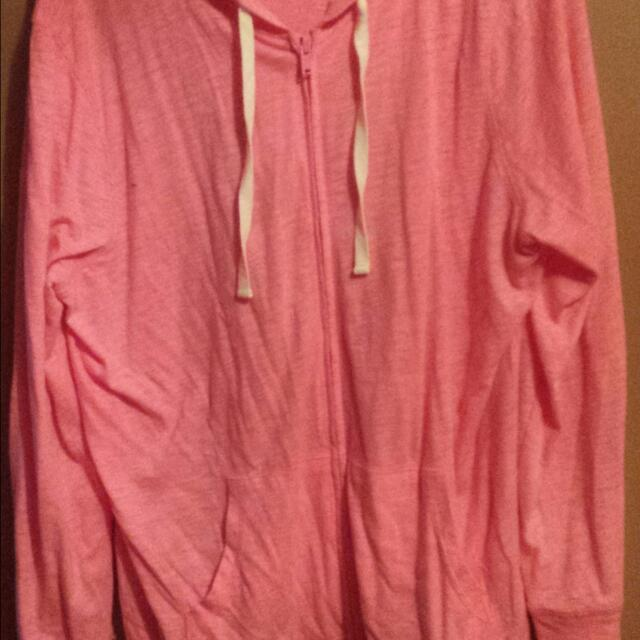 Pink Sweater With Hood Size XL