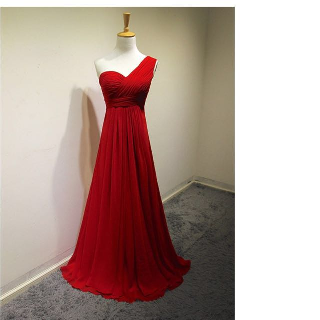 RED BALL/PROM/FORMAL ONE SHOULDER DRESS