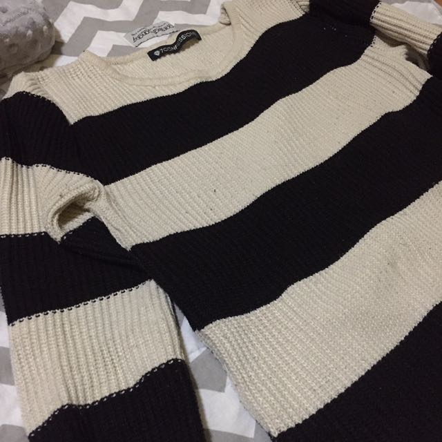 RUSH SALE! 7 CONFESSIONS STRIPED KNIT SWEATER! Only used for travel!