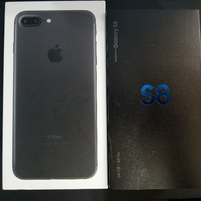 Samsung Galaxy S8 64GB and Iphone 7plus 32Gb