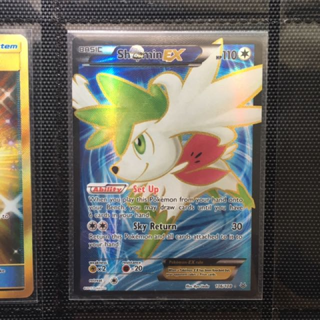 Shaymin Ex Full Art Pokemon Tcg Toys Games Board Games Cards