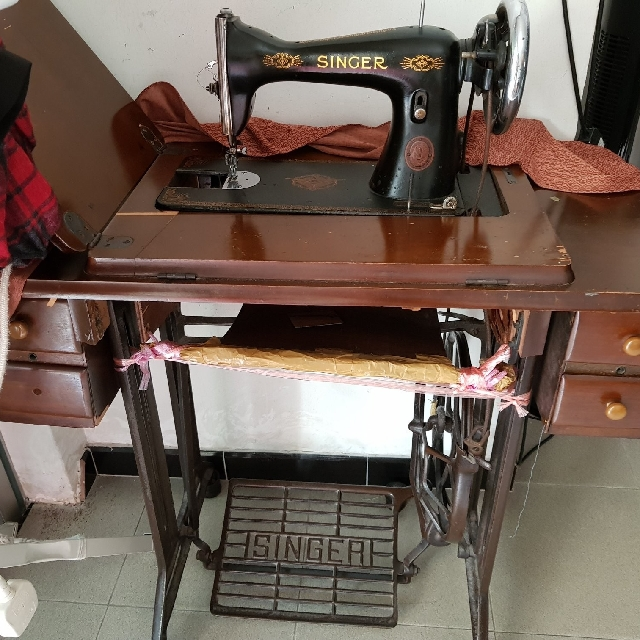 Singer Manual Leg Paddle Sewing Machine Vintage Collectibles On Custom Singer Manual Sewing Machine