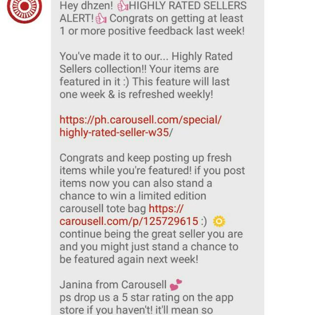 thank you carousell <3