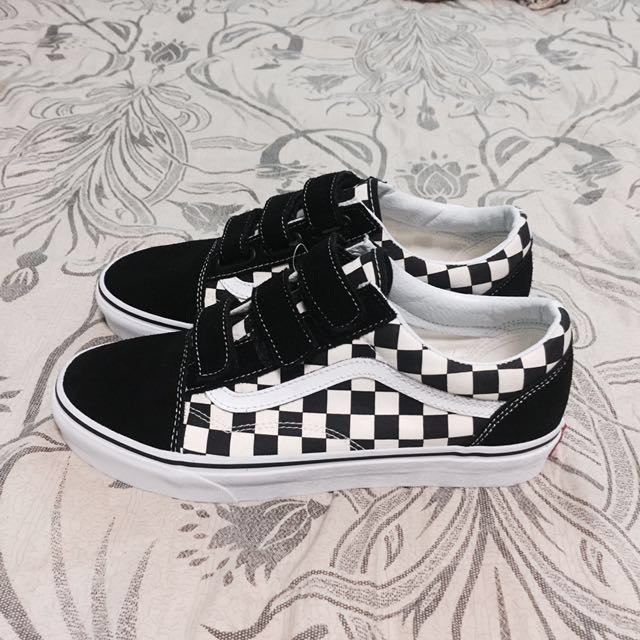 7c6b68619ac Vans Old Skool V Checkerboard Black White