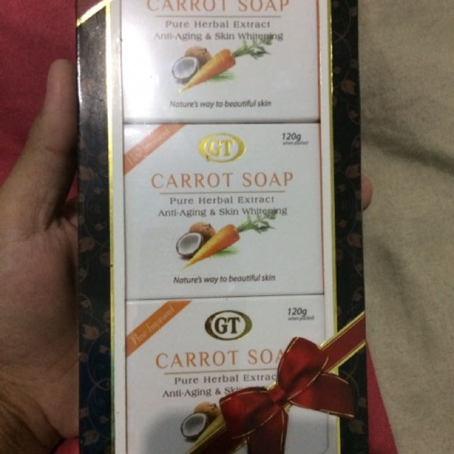 Watsons carrot soap