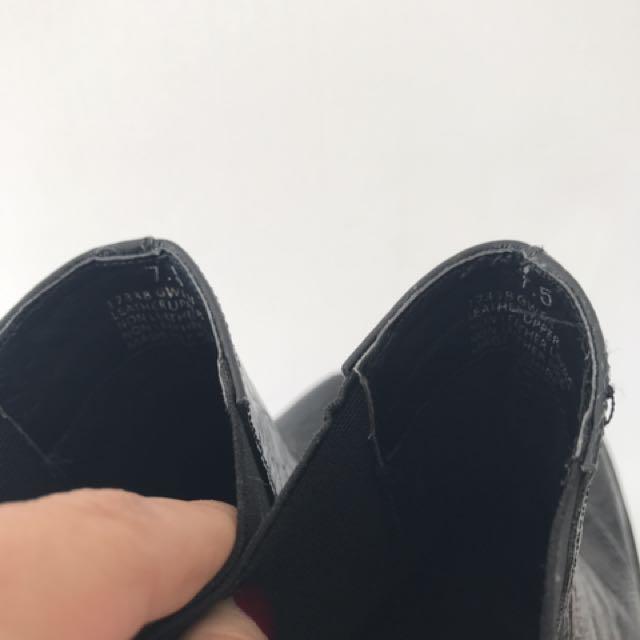 Windsor smith black boot heels 7.5
