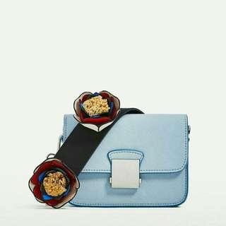 Zara Crossbody Bag With Floral Strap - Tas Selempang Zara (Tas Kecil)