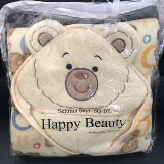 Selimut bayi happy beauty / baby blanket bear beruang