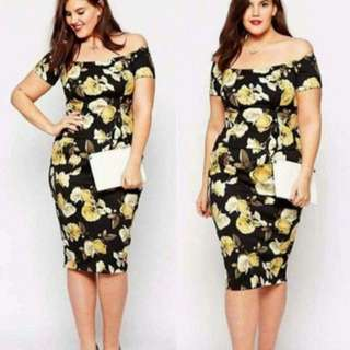 PLUS SIZE DRESS 💛NEW ARRIVAL💛 -1Color Avail -Size/s: Fits up to XXL body frame -Fabric: Spandex Cotton