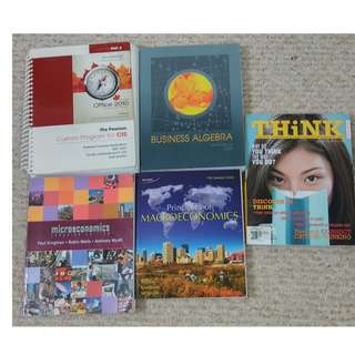 SELLING UOIT 1ST YEAR - 3RD YEAR COMMERCE TEXTBOOKS!