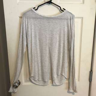 Wilfred Small long sleeve slit shirt