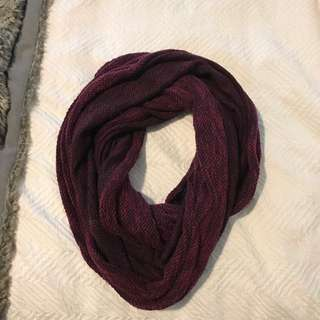 H&M Burgundy Blanket Scarf