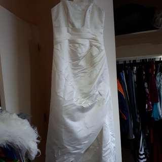 Cream Wedding Dress 14 With Beading