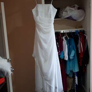White Spagetti Or Strapless 12. Beading Up Top