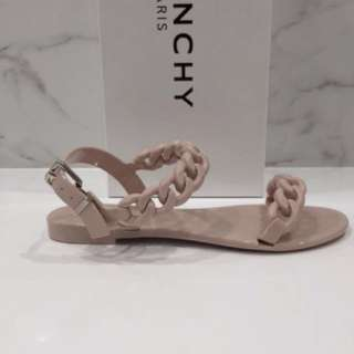 Givenchy Jelly Chain Strap Sandals Nude Pink sz 35