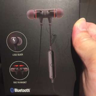 Brand new Ferrari earphone Bluetooth