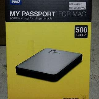 WD My Passport External Hard Drive 500GB