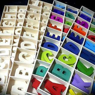 NEW alphabet ABCDEF... Colorful or Original Wooden Crafting Design for Cards, Albums, Gift, Presents, Wedding, Student, Designers, Many More..