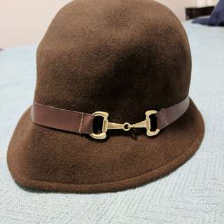 Brown Hat With Buckle