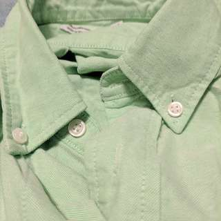 Green Denim Dress Shirt America Apparel