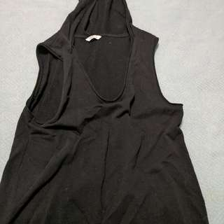 TNA Cotton Muscle Shirt With Hood