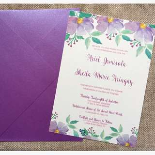 Floral Invite Design for any occasion