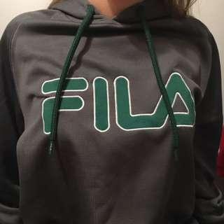 Fila grey and green hoodie