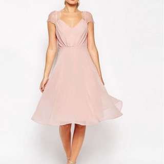 Blush Pink Chiffon Dress
