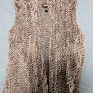 Fur And Knit Vest