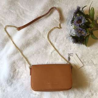 Charles And Keith Gold Chain Sling Bag